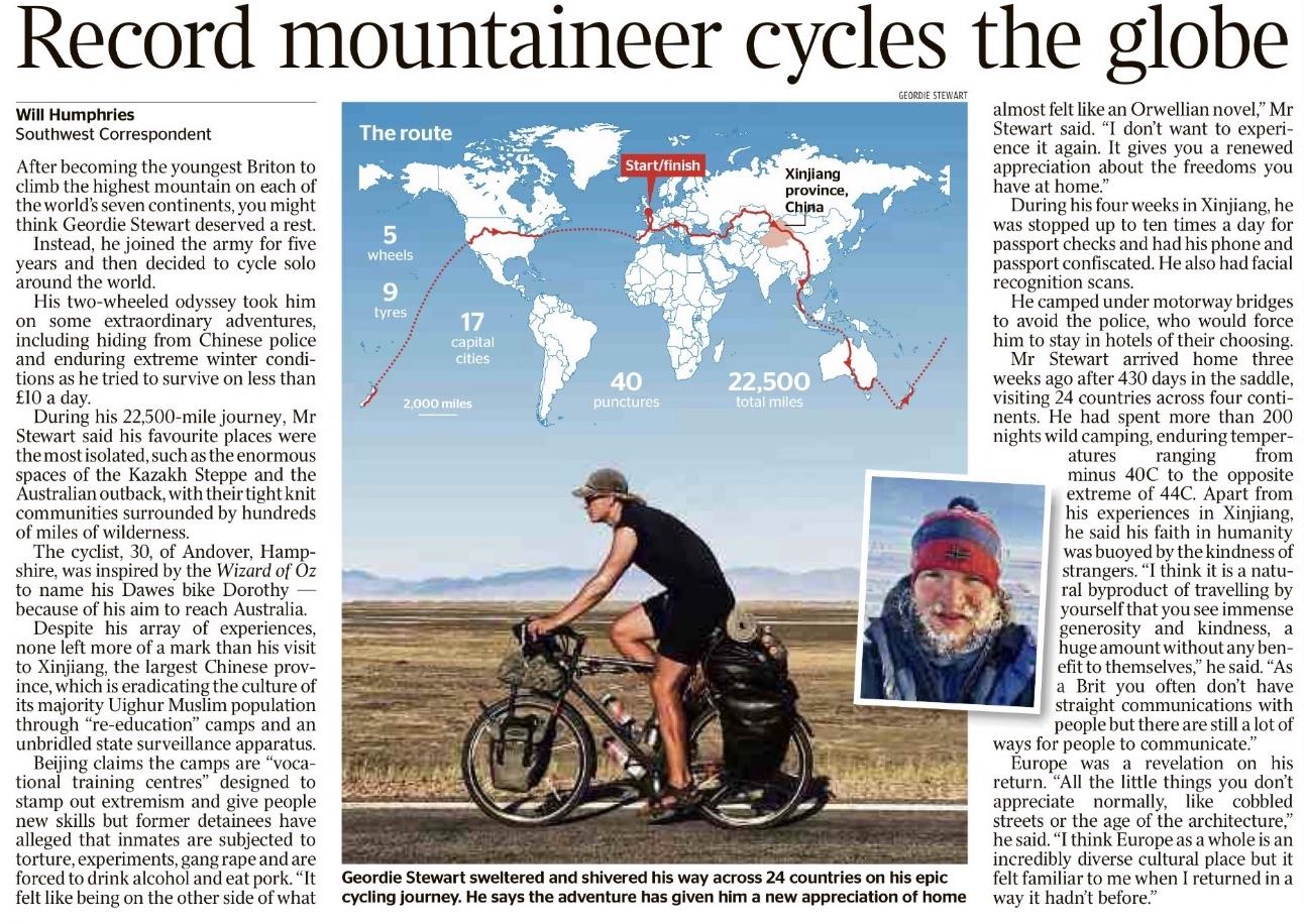 The Times Geordie Stewart – Nov 2019